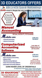 3D OFFER  MANUAL ACCOUNTING COMPUTERIZED ACCOUNTING SOFTWARE TRAINING