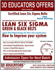 Lean Six Sigma Green and Black Belt Training