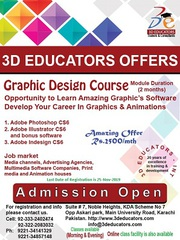 Graphics Design Course Offerd by 3D Educators