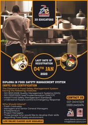 Diploma In Food Safety Management System IMRTC USA Certification